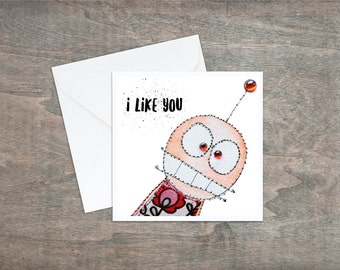 I Like You - Valentines Card