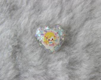 Heart Shaped Mermaid Pin