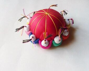 Chinese Pincushion, Ten Man Asian Pin Pillow