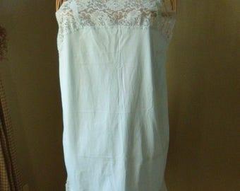 Light Blue Maidenform Confection Slip, Size 34, Fun & Flirty Lacy Nylon Slip Dress