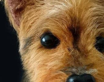 Yorkshire Terrier dog replica - custom made dog plush - pet memorial - gift for dog lover - Yorkie portrait