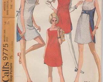 Too Cute! 60s Reversible Minidress & Shorts Pattern McCalls 9775 Size 14