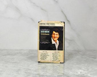 Vintage Cassette Tape Dean Martin Remember Me 1965, Reprise Records, Warner Bros, King Of the Road, Born To Lose, Bumming Around