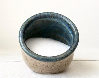 Salt Pig - Salt Cellar - Ceramic Salt Jar - Wheel Thrown Pottery Salt Cellar - Pottery Salt Jar - Ceramic Salt Pig - Salt Pepper Cellar Blue