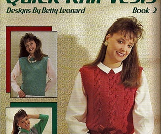 Quick Knit Vests Book 2 Pattern Book Leisure Arts Leaflet 621