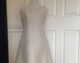 Vintage Cream 60s A Line Twiggy Dress