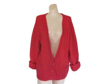 Red cardigan   Etsy