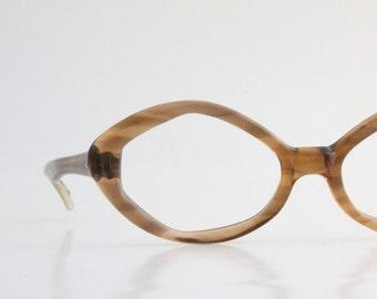 Vintage 50's Angular Tortoise Shell Cat Eyeglasses