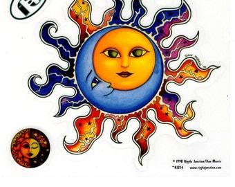 Dan Morris Celestial Sun and Moon Stickers -- RJ234