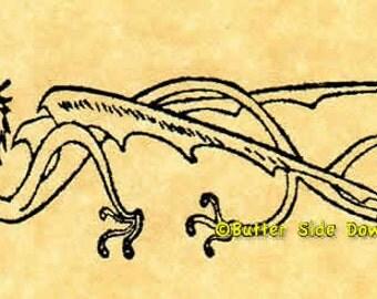 Heraldic Dragon Rubber Stamp