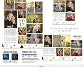 Yearbook Ad TEMPLATES, Senior Ad, Graduation Ad, High School, Middle School, College - Full Page, Half Page and Quarter Page Included - Y1