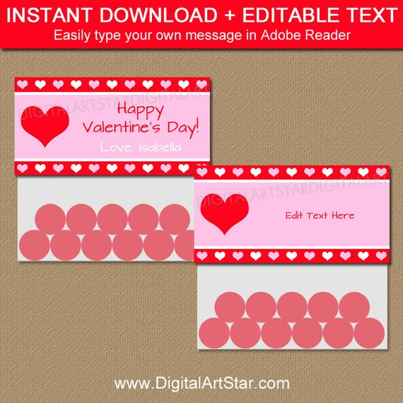 Valentine bag toppers valentine bag labels valentine for Goodie bag tag template