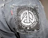 A//Political Logo Patch - Anarchy/Peace/Equality