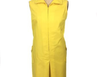vintage 1960s yellow romper / Stag-Prest by White Stag / cotton blend / onesie jumper / spring summer / women's vintage romper / size large