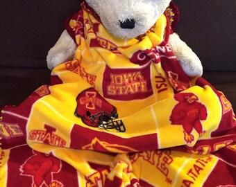Iowa State Cyclones Football NCAA Fleece Sports Baby Blanket