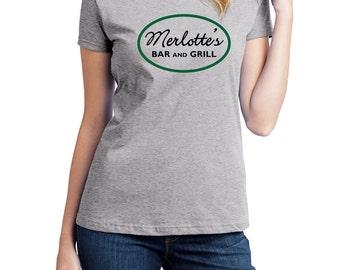 Merlotte's Bar and Grill Shirt, Fruit of the Loom Shirt, Direct to Garment, Women's Shirt, True Blood Shirt, Heather Grey Shirt