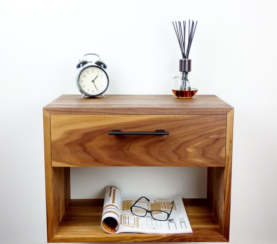 Floating Nightstand Nightstand with Drawer Nightstand