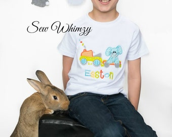 Easter tractor shirt or bodysuit, Easter bunny shirt or bodysuit, Bunny tractor shirt