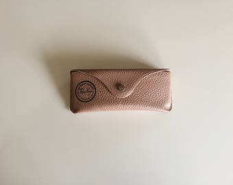 ray ban eyeglasses case  vintage 60s leather ray ban eyeglass case