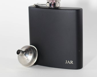 Custom Everyday Carry Flask, 6 Ounce Flask, Father's Day, Groom and Bride Present, Groomsmen Gifts
