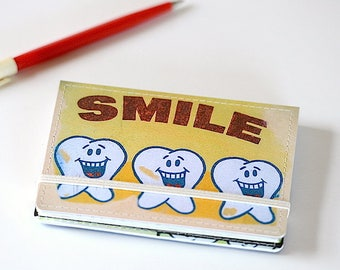 Upcycled Mini Journal, Urban Tooth Jotter, Quirky Tooth Notebook