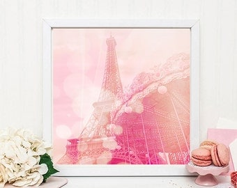 Dreamy Pink Paris Photography Print - Dreamy nursery print