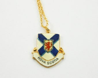 Nova Scotia Necklace - Nova Scotia Pendant - Canada Necklace
