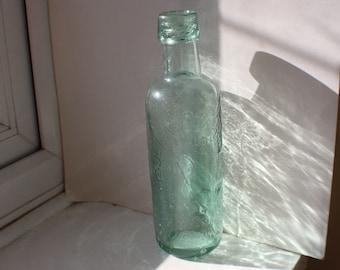 Vintage Pale Green Glass Bullard & Sons Ltd Anchor Logo Brewers Beer Bottle Hinge Moulded