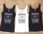 Last Bash in Nash Tennessee whiskey inspired Bachelorette party tanks