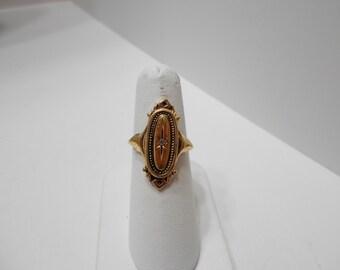Vintage Avon Kensington, Victorian Style Rhinestone Ring (1092) (8257) Size 8