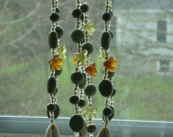 Green Suncatcher with Silver Frog