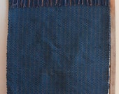 "Hand Woven Rag Rug - Soft Blue Cotton Knit Rug 22"" x 54"""