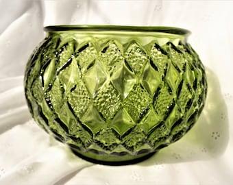 Anchor Hocking Kimberly Olive Green Bowl