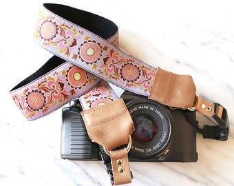 The Annie Purple Designer DSLR Camera Strap with Quick Release Buckles -- 1.5 inches wide