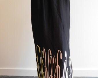 Silk Hand Painted Maxi skirt