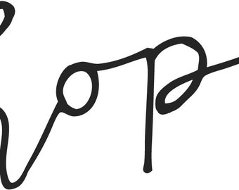 hope  // Temporary Tattoo