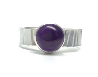 Amethyst and Sterling Silver Ring, Amethyst Ring, February Birthstone, Birthstone Ring, Gift for Her, Birthstone Jewellery