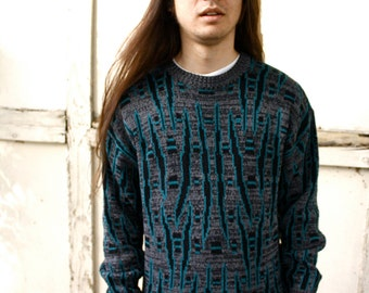 90s Funky Patterned Sweater
