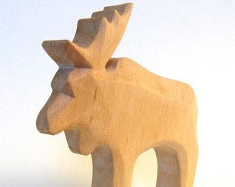 Moose, Elk, Eco friendly wooden animal, woodcarving