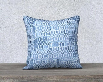 Blue throw pillow Etsy