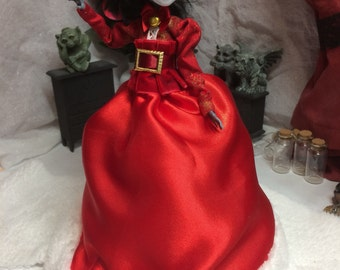 Mrs Claus Gown for your Monster High Doll - Monster High Doll Clothing