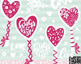 Candy heart clipart | Etsy