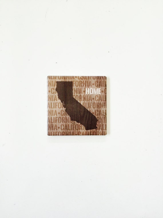 California State Coasters / California Decor / California Art / Dorm decor / California coasters / aloha gifts / vintage