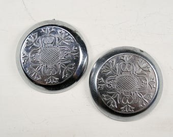 Vintage Pocket Watch Back Lids - set of 2 - c47