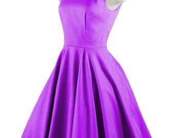 CHLOE Violet Purple Rockabilly Swing Rock 'n Roll Dress//Full Circle Violet Dress//Retro 50s Style Dress//Bridesmaid, Party Dress XXS-3X