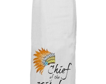 Chief of the Kitchen - Kitchen Tea Towel - Hang Tight Towel