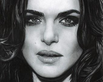 Drawing Print of Rachel Weisz
