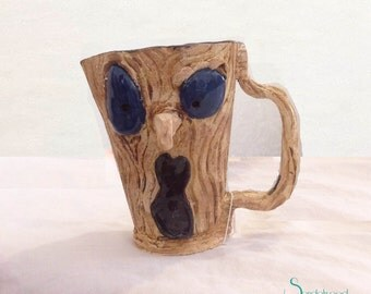 READY TO SHIP! One-of-a-kind Haunted Tree Coffee Mug | Unique Drinkware | Artistic Ceramic Mug