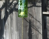 Be Free Tree Wine Bottle Windchime - Repurposed Outdoor Dad Father Personalized Garden Wine Roots Family Branches Children Wedding