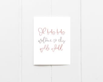 Oh Baby Girl Card